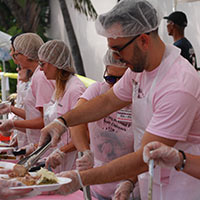 Volunteers Serving