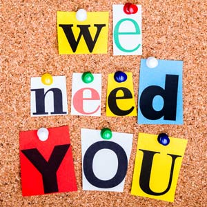 We Need You To Volunteer